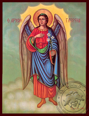 Saint Gabriel - Nazarene Art Icon