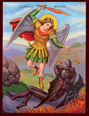 Michael Archangel - Nazarene Art Icon