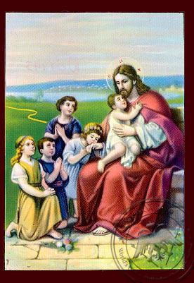 Christ Blessing the Children - Nazarene Art Icon