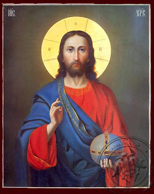 Christ Blessing - Nazarene Art Icon