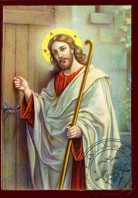 Christ, Knocking on Door - Nazarene Art Icon