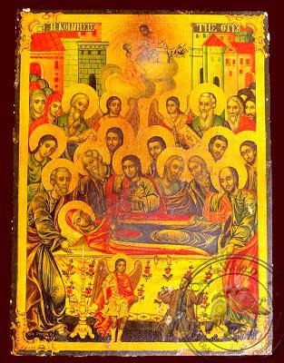 Dormition of Theotokos - Nazarene Art Icon