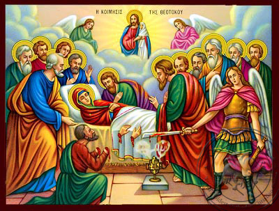 The Dormition of the Virgin - Nazarene Art Icon