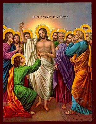 The Doubting of Thomas - Nazarene Art Icon