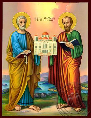 Peter and Paul the Apostles - Nazarene Art Icon