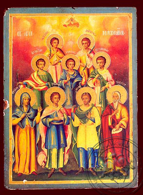 Holy Seven Maccabees Martyrs - Nazarene Art Icon