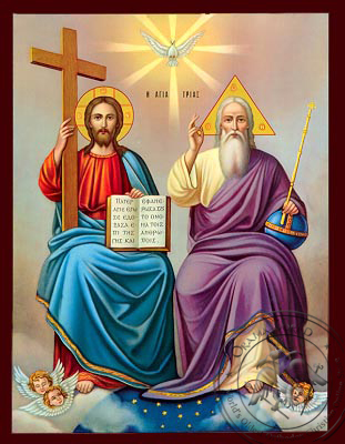 The Holy Trinity - Nazarene Art Icon