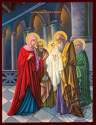 The Presentation of the Christ in the Temple - Nazarene Art Icon
