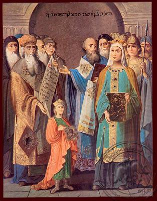 Restoration of the Holy Icons, Sunday of Orthodoxy - Nazarene Art Icon