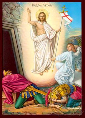 Resurrection - Nazarene Art Icon