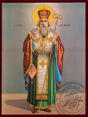 Saint Alexandros - Nazarene Art Icon