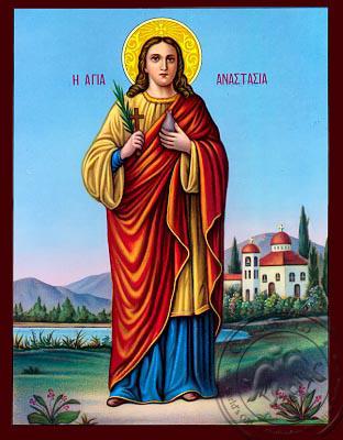 Saint Anastasia - Nazarene Art Icon