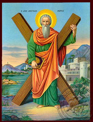 Saint Andrew - Nazarene Art Icon