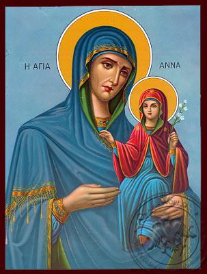 Saint Anna - Nazarene Art Icon