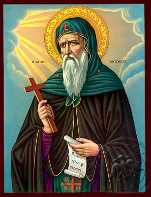 Saint Antonios - Nazarene Art Icon