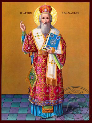 Saint Athanasius - Nazarene Art Icon