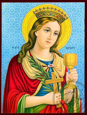 Saint Barbara - Nazarene Art Icon