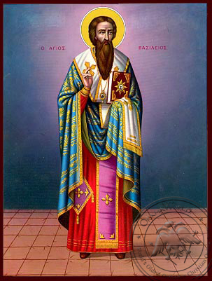 Saint Basil the Great, Archbishop of Caesarea in Cappadocia, Full Body - Nazarene Art Icon