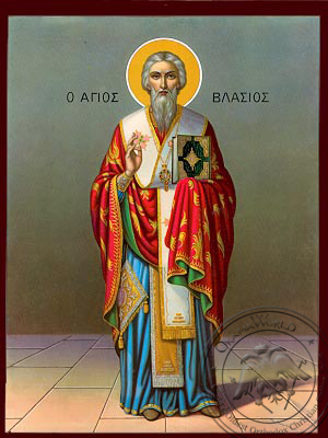 Saint Vlasios - Nazarene Art Icon