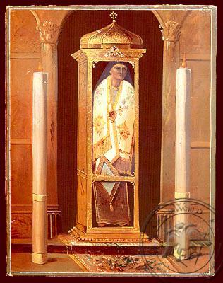 Saint Dionysius of Zante, Greece, Bishop of Aegina, Relic - Nazarene Art Icon