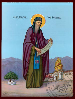 Saint Gerasimos - Nazarene Art Icon