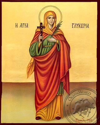 Saint Glyceria, Virgin-Martyr at Heraclea, Full Body - Nazarene Art Icon
