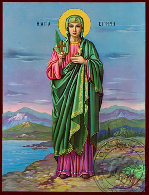Saint Irene - Nazarene Art Icon