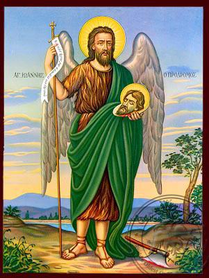 Saint Ioannis Prodromos - Nazarene Art Icon