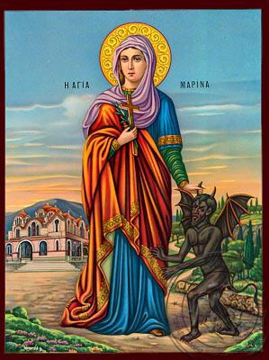 Saint Marina - Nazarene Art Icon