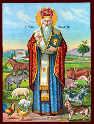 Saint Modestus, Archbishop of Jerusalem, Full Body - Nazarene Art Icon