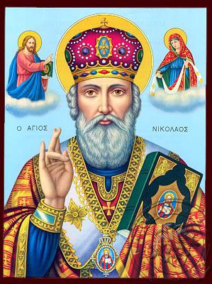 Saint Nicholas - Nazarene Art Icon