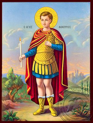 Saint Fanourios - Nazarene Art Icon