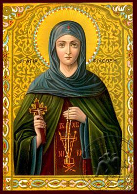 Saint Philothea, Nun-Martyr, of Athens, Greece - Nazarene Art Icon