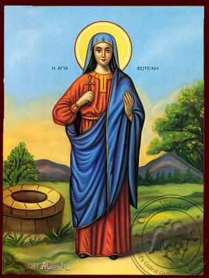 Saint Fotini - Nazarene Art Icon