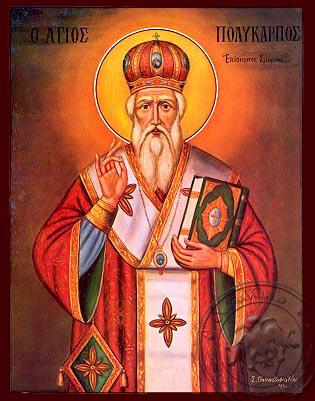 Saint Polycarp, Bishop of Smyrna - Nazarene Art Icon