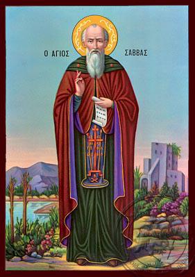 Saint Savvas - Nazarene Art Icon