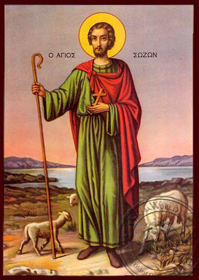 Saint Sozon - Nazarene Art Icon