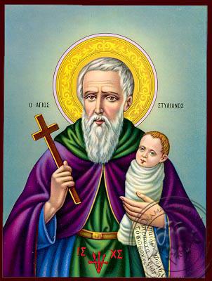 Saint Stylianos - Nazarene Art Icon