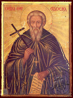 Saint Theodosius, the Cenobiarch - Nazarene Art Icon