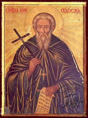 Saint Theodosius, the Cenobiarch - Nazarene Art Icon