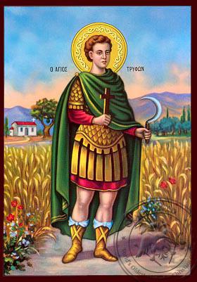 Saint Triphon - Nazarene Art Icon