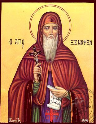 Saint Xenofon - Nazarene Art Icon