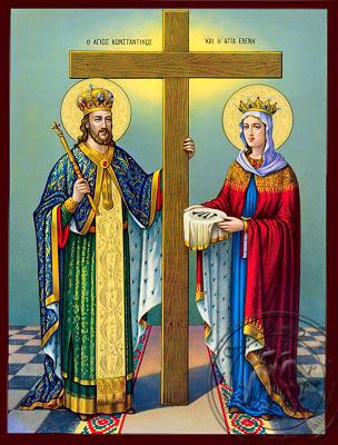 Saint Konstantinos and Helena - Nazarene Art Icon