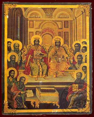 Seventh Holy Ecumenical Council, at Nice of Bithynia - Nazarene Art Icon