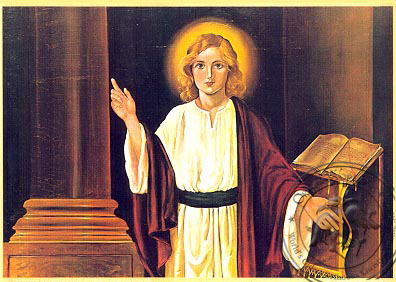 Twelve-Year-Old Jesus in the Temple - Nazarene Art Icon