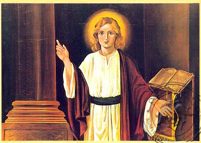 Twelve-Year-Old Jesus in the Temple - Nazarene Art Icon