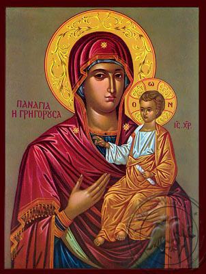 Virgin and Child, Hodegetria, Gregorousa - Nazarene Art Icon