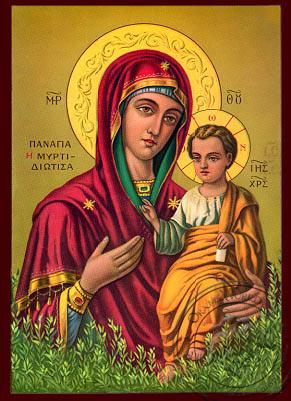 Virgin and Child, Hodegetria, of the Myrtle Tree - Nazarene Art Icon