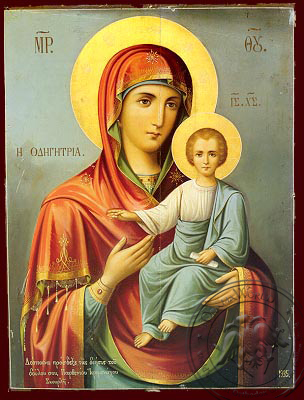 Virgin and Child, Hodegetria - Nazarene Art Icon