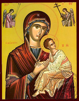 Amolintos with Angels - Nazarene Art Icon